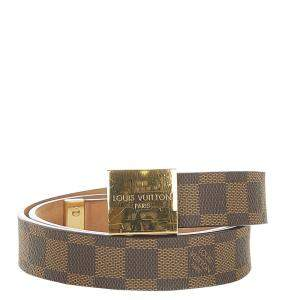 Louis Vuitton Brown Damier Ebene Canvas Belt