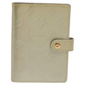 Louis Vuitton Silver Monogram Vernis Leather Small Ring Agenda Cover
