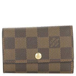 Louis Vuitton Brown Damier Ebene Canvas 6 Key Holder