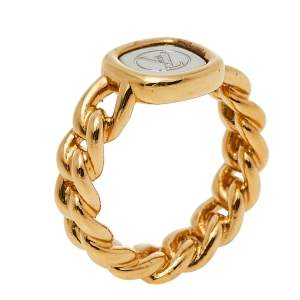 Louis Vuitton ID Two Tone Gold Ring S