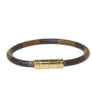 Louis Vuitton Keep It Brown Damier Ebene Canvas Wrap Bracelet
