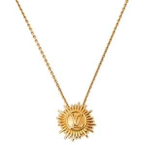 Louis Vuitton Place Vendome Gold Tone Pendant Necklace