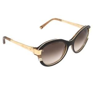 نظارة شمسية لوي فيتون عين قطة متدرجة زد0487دبليو أسيتات بني
