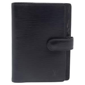 Louis Vuitton Black Epi Leather Small Ring Agenda Cover