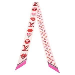 Louis Vuitton Pink Lucky Monogram BB Silk Bandeau