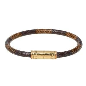 Louis Vuitton Brown Damier Ebene Canvas Keep It Bracelet