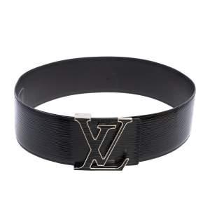 حزام خصر لوي فيتون حرفي الشعار أل في جلد إيبي إليكتريك أسود 85 سم