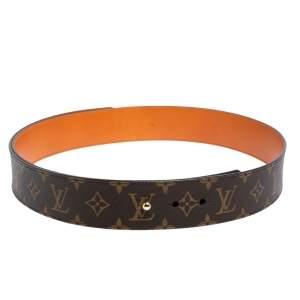 حزام لوي فيتون تاي ذا نوت كانفاس مونوغرامي  90 سم