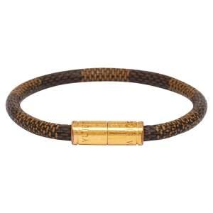 Louis Vuitton Keep It Brown Damier Ebene Canvas Bracelet