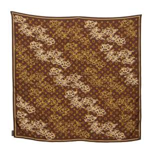 Louis Vuitton Brown Monogram Dentelle Silk Scarf