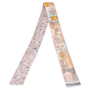 Louis Vuitton Pink/Khaki Jeu De Louis BB Silk Bandeau