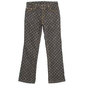 Louis Vuitton Brown Monogram Denim Jeans L