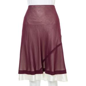 Louis Vuitton Purple Chiffon Flared Skirt M