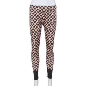 Louis Vuitton Pink & Black Knit Leggings M
