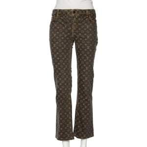Louis Vuitton Grey Monogram Denim Jeans M