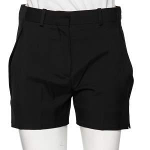Louis Vuitton Black Wool Overlay Trim Detailed Shorts S
