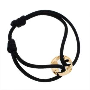 Louis Vuitton Empreinte Black Cord 18K Yellow Gold Lace Bracelet