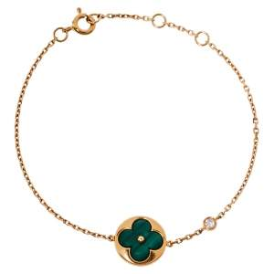 Louis Vuitton Color Blossom BB Sun Malachite Diamond 18K Rose Gold Bracelet