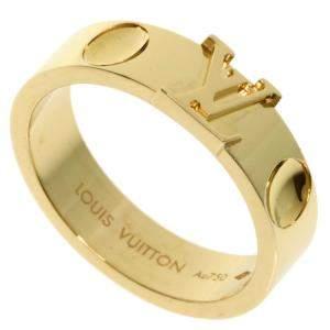 Louis Vuitton Empreinte 18K Yellow Gold Ring  EU 54.5