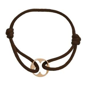 Louis Vuitton Empreinte 18k Rose Gold Adjustable Lace Bracelet