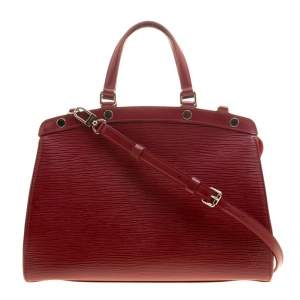 Louis Vuitton Red Epi Leather Brea MM Bag