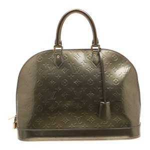 Louis Vuitton Vert Olive Monogram Vernis Alma GM Bag