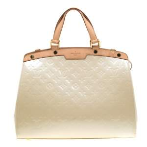 Louis Vuitton Perle Monogram Vernis Brea GM Bag