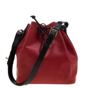 Louis Vuitton Red/Black Epi Leather Petit Noe Shoulder Bag