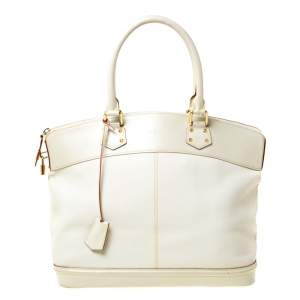 Louis Vuitton Cream Suhali Leather Lockit GM Bag