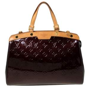 Louis Vuitton Amarante Monogram Vernis Brea MM Bag