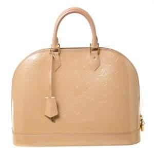 Louis Vuitton Rose Florentine Monogram Vernis Alma GM Bag