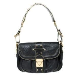 Louis Vuitton Black Suhali Leather Le Confident Shoulder Bag
