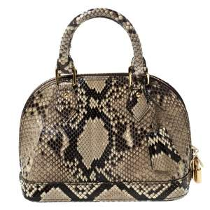 Louis Vuitton Beige Python Leather Alma BB Bag