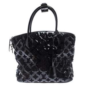 Louis Vuitton Black Limited Edition Monogram Vernis Fascination Lockit Bag