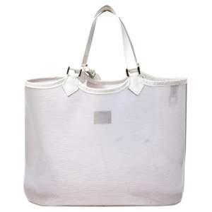 Louis Vuitton White Vinyl Epi Plage Lagoon Bay GM Bag