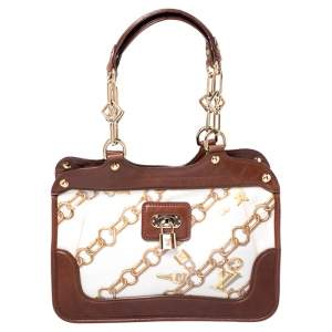 Louis Vuitton Brown/White Monogram Coated Canvas Linda Charms Bag