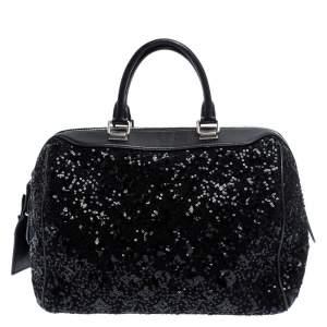 Louis Vuitton Black Sequin Monogram Sunshine Express Speedy 30 Bag