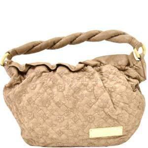 Louis Vuitton Beige Monogram Leather Olympe Nimbus GM Bag