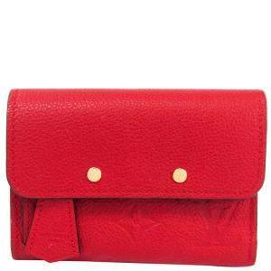 Louis Vuitton Cerise Monogram Empreinte Pont Neuf Compact Wallet