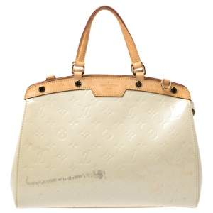 Louis Vuitton Perle Monogram Vernis Brea MM Bag