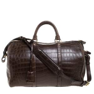 Louis Vuitton Choco Brown Alligator Sofia Coppola SC GM Bag