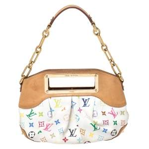 Louis Vuitton White Multicolore Monogram Canvas Judy PM Bag