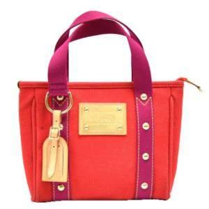 Louis Vuitton Red Antigua Canvas Cabas PM Bag