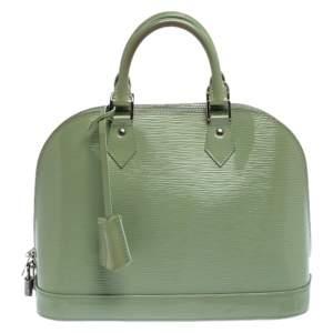 Louis Vuitton Amande Electric Epi Leather Alma PM Bag