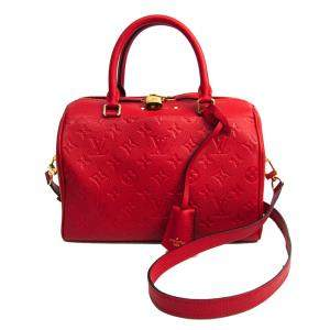 Louis Vuitton Cerise Monogram Empreinte Leather Speedy Bandouliere 25 NM Bag