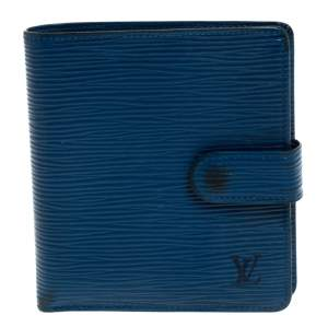 Louis Vuitton Blue Epi Leather Compact Wallet