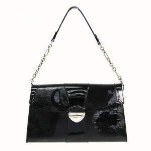 Louis Vuitton Noir Epi Electric Leather Pochette Bag