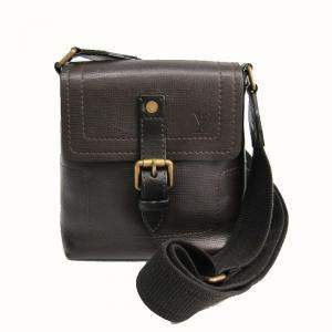Louis Vuitton Coffee Utah Leather Shoulder Bag