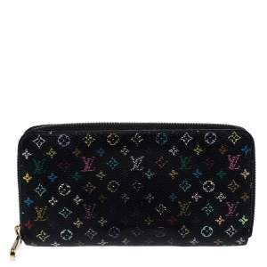 Louis Vuitton Black Multicolore Monogram Canvas Zippy Wallet