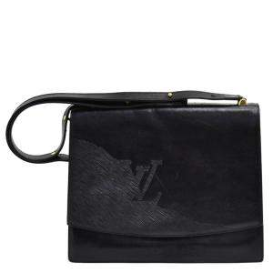 Louis Vuitton Black Leather Delphes Opera Line Tote
